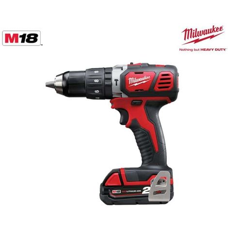 Percussion drill Milwaukee M18 BPD-202X - 2 batteries 18V Li-Ion 2.0Ah - 1 charger 4933446192