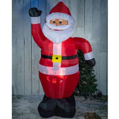 Père Noël 1,5m lumineux et auto-gonflable