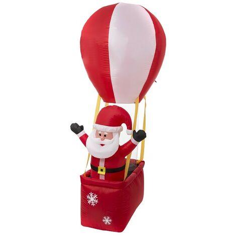 """main image of """"Père Noël 210 cm en ballon gonflable électrique - Rouge"""""""