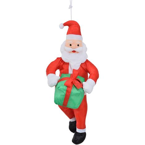 Père Noël à la corde 90cm Déco de Noël saint-nicolas échelle silhouette