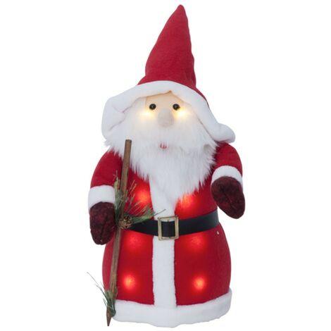 Père Noël décoratif lumineux de 38 cm à piles