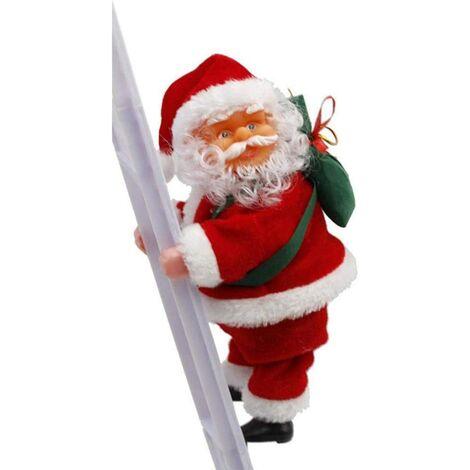 """main image of """"Père Noël électrique sur échelle escalade Père Noël sur corde Père Noël électrique intérieur et extérieur escalade Père Noël parfait"""""""