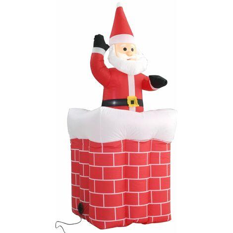 Père Noël en cheminée Mouvement automatique LED IP44 180 cm