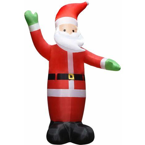Père Noël gonflable 10 m XXL Ventilateur haute pression