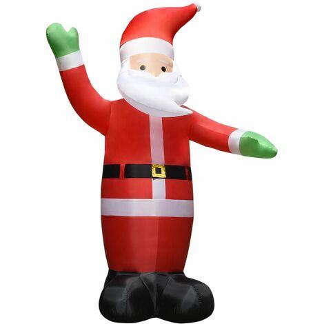 Père Noël gonflable avec LED Décoration de Noël IP44 4,5 m