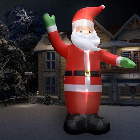 Père Noël gonflable avec LED IP44 10 m XXL