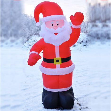 Père Noël Gonflable Eclairé 180cm