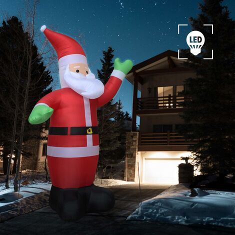 Père Noël gonflable LED IP44 600 cm XXL