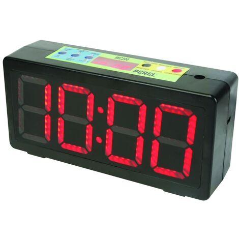 Perel Horloge avec minuterie Noir