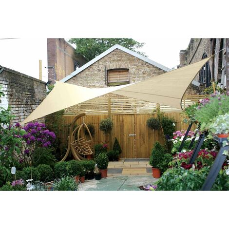 Perel Shade Sail Square 3.6 m Cream GSS4360