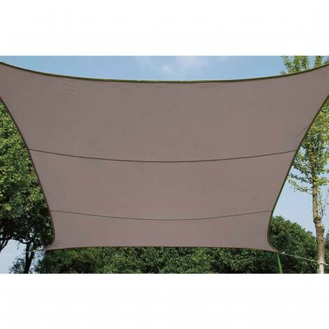 Perel Shade Sail Square 3.6 m Outdoor Garden Patio Canopy Breathable Shelter Sun Shade Sail Sunscreen Awning 90% UV protection Cream/Taupe