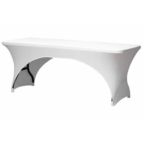 Perel Table Cover For Rectangular Table Arched White FP400