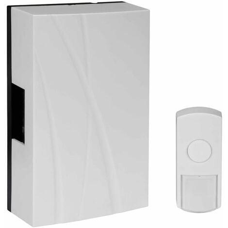 Perel Timbre de puerta inalámbrico blanco EDB6