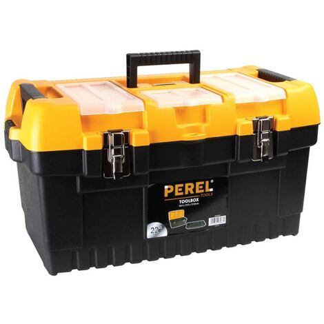 Perel Toolbox with Metal Latches 56.4x31x31 cm OM22M