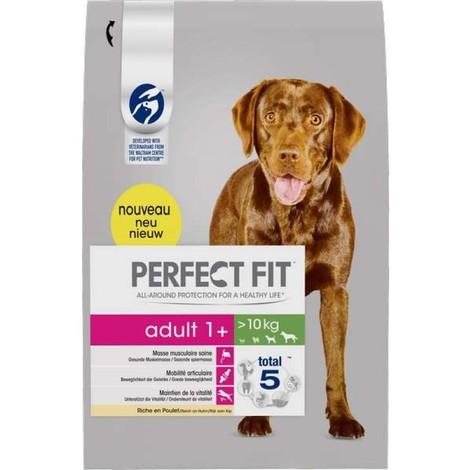 PERFECT FIT Adult 1+ chiens plus de 10kg Riche en Poulet, 6 kg