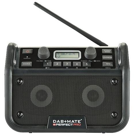 Perfect Pro - Radio de chantier 18W DAB+ FM radio RDS Bluetooth rechargeable - DAB+MATE - TNT
