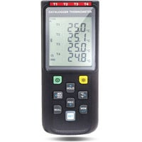PerfectPrime TC0521, 4 Channels Thermocouple Thermometer K,J,E,T,N,R,S Type Data Logger, USB PC & Wireless to Mobile app iOS/Android