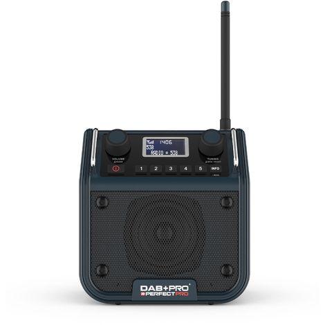 PerfectPro DAB PRO Radio de construcción - FM RDS - DAB - aux-in - funciona con la red eléctrica y bagerías