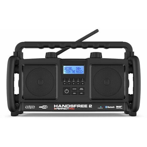 Perfectpro HANDSFREE 2 230V batería NiMH Radio de construcción - DAB + - bluetooth - USB - funciona a electricidad y batería (baterías incluidas)
