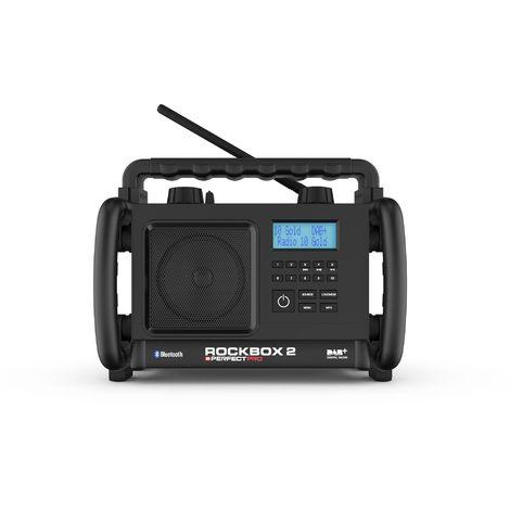 PerfectPro ROCKBOX 2 Radio de trabajo - FM RDS - DAB+ - bluetooth - aux-in - funciona a tomacorrientes y batería