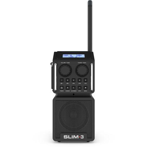 PerfectPro SLIM 3 Radio de construcción FM RDS - DAB + - bluetooth - USB / SD - entrada auxiliar - funciona con electricidad y batería (baterías incluidas)