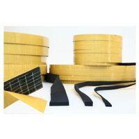 Perfil Adhesivo 30X3Mm Esponja/Neopreno Negro 100 Mt