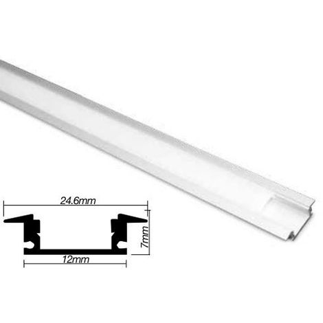 Perfil aluminio 2m para tira led empotrable GSC 1504503