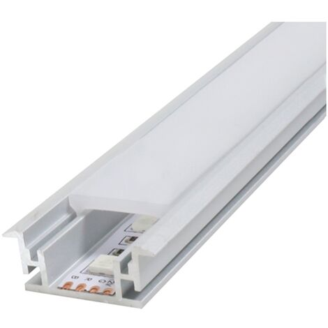 Perfil aluminio Fat con alas 2m para empotrar 12V/24V