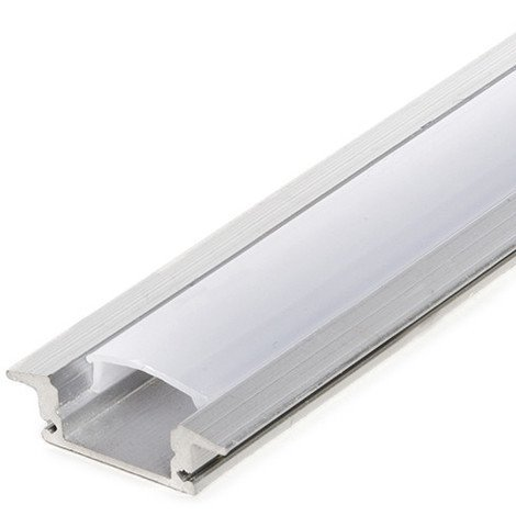 Perfíl Aluminio para Tira LED - Difusor Opal RL-A1708 x 2M (RL-A1708)