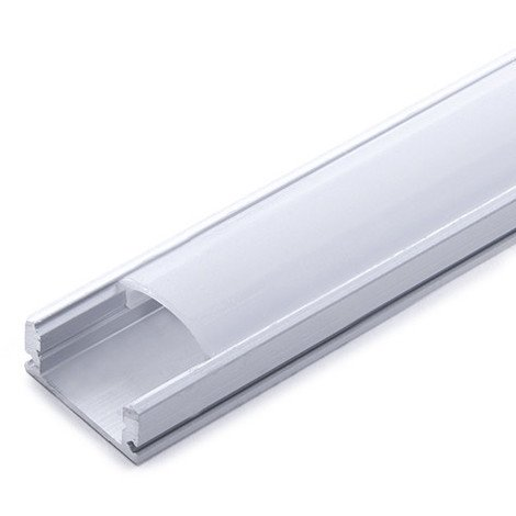 Perfíl Aluminio para Tira LED - Difusor Opal x 1M (SU-A1707-1M)
