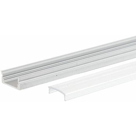 "main image of ""Perfíl Aluminio para Tira LED Difusor Transparente LLE-A1707-T x 2M (LLE-A1707-T)"""