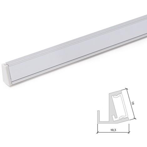 Perfíl Aluminio para Tira LED Estanterías Cristal 6Mm x 1M (SU-G001)
