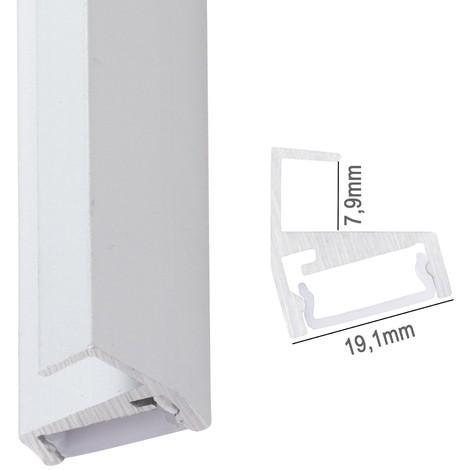 Perfíl Aluminio para Tira LED Estanterías Cristal 8Mm x 2M (SU-G002)
