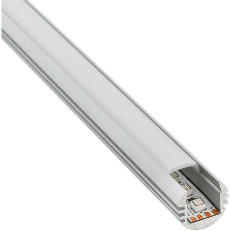 Perfil aluminio ROUND para tiras LED, 2 metros