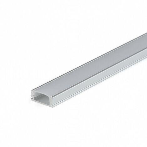 Perfil Aluminio Superficie LED Difusor Transparente 17x7x2000cm CC-32