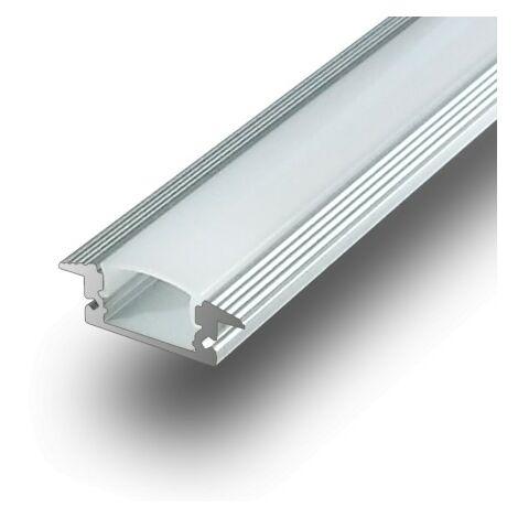 Perfil Aluminio Tira LED Empotrar Opal 1m