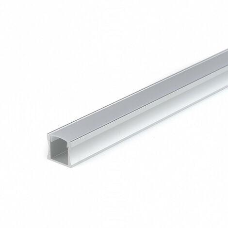 Perfil Aluminio Tira LED Superficie Opal ALTO 2m