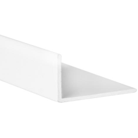 """main image of """"Perfil angular con lados desiguales de aluminio, acabado en blanco y 1 m de largo . Ref. 9001.1510.01"""""""