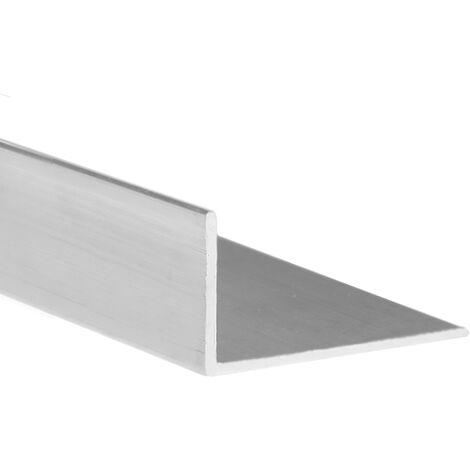 Perfil angular con lados desiguales de aluminio, acabado en crudo y 1000 mm de largo. Ref. 9001.4010.00