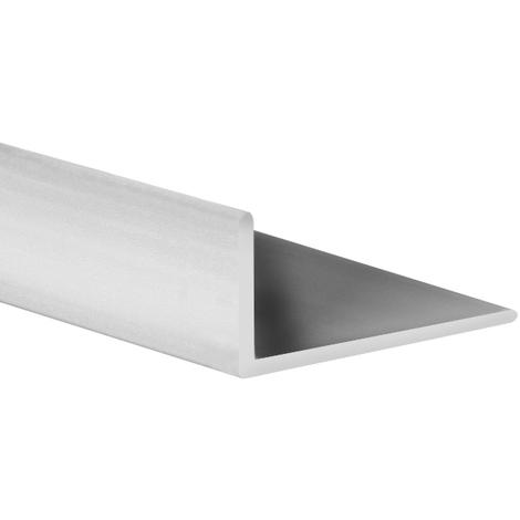 Perfil angular con lados desiguales de plástico (PVC), acabado en gris satinado y 1000 mm de largo. Ref. 9101.2520.22