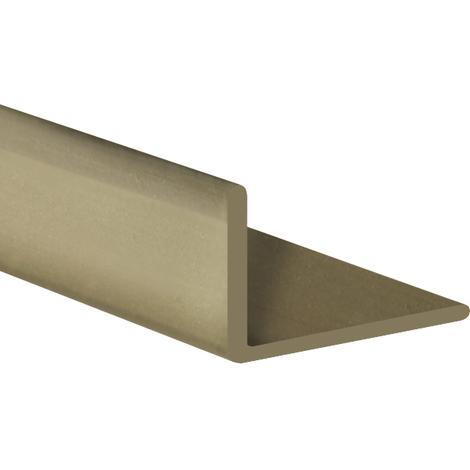 Perfil angular con lados desiguales de plástico (PVC), acabado en oro y 1000 mm de largo. Ref. 9101.4010.20