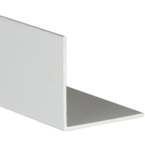 Perfil angular con lados iguales de aluminio, acabado en anodizado mate y 1000 mm de largo. Ref. 9000.2020.63