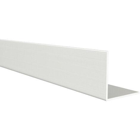 Perfil angular con lados iguales de aluminio, acabado en crudo y 1000 mm de largo. Ref. 9000.2525.00