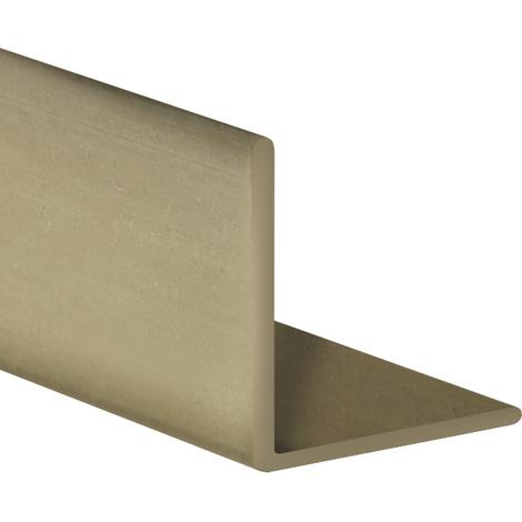 Perfil angular con lados iguales de plástico (PVC), acabado en oro y 1000 mm de largo. Ref. 9100.2020.20