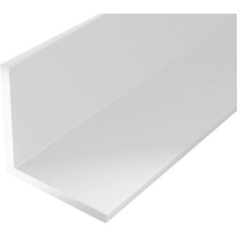 Perfil ángulo plástico 1000/10x10mm blanco