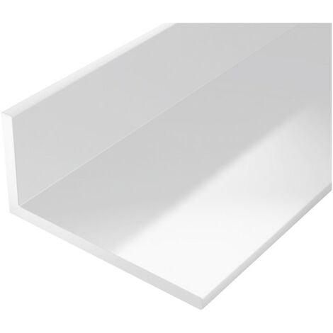 Perfil ángulo plástico 1000/20x10mm blanco