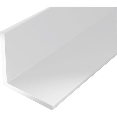 Perfil ángulo plástico 1000/20x20mm blanco