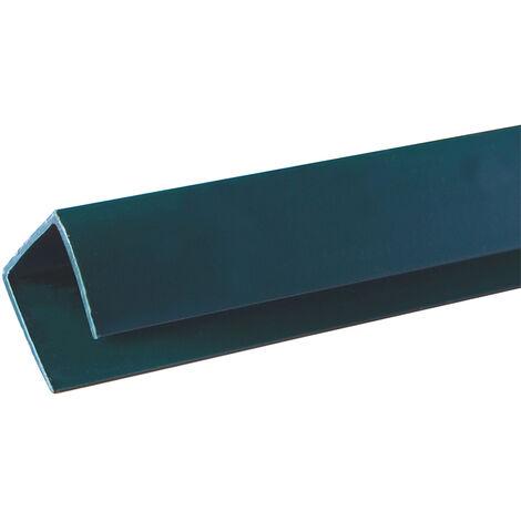 PERFIL CELOSÍA PVC U 2.06 M VERDE Verde
