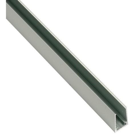 Perfil de aluminio 25x14mm de superficie para neón LED flexible (2mt)