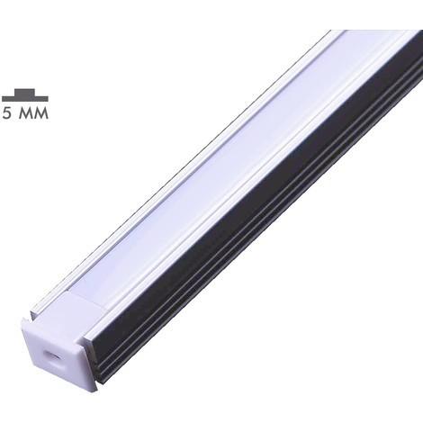 Perfil de aluminio 8X12mm de superficie para tira LED de 5mm (2m)